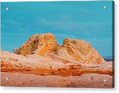 Sunrise At Vermillion Cliffs, White Acrylic Print