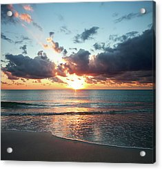Sunrise In Miami Acrylic Print
