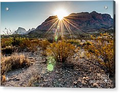 Sunrise In The Chisos Mountains Big Acrylic Print