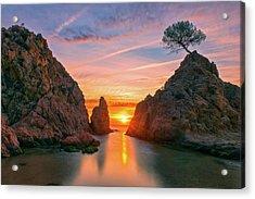 Sunrise In The Village Of Tossa De Mar, Costa Brava Acrylic Print