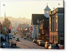 Sunrise On Main Street, Littleon, New Acrylic Print