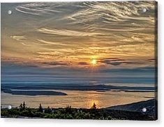 Sunrise On Mt. Cadillac Acrylic Print by Zev Steinhardt