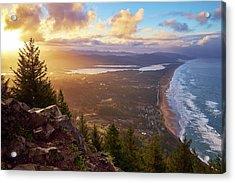 Sunrise On Neahkahnie Acrylic Print