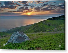 Sunrise On Sea Of Galilee Acrylic Print by Ilan Shacham