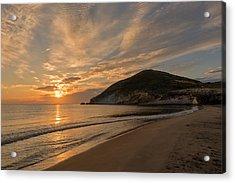 Sunrise On The Beach Of The Genoveses Of Cabo De Gata Acrylic Print