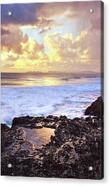 Sunrise Over Coolangatta Acrylic Print by Nancy Branston