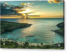 Sunrise Over Hanauma Bay On Oahu, Hawaii Acrylic Print