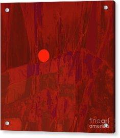Sunset As Siler Metaphorm Acrylic Print