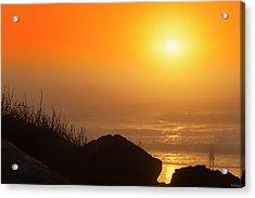 Sunset At Beverly Beach On The Oregon Coast Acrylic Print