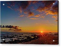 Sunset At Kailua Beach Acrylic Print