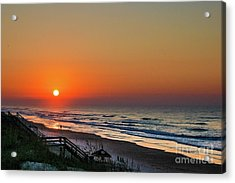 Sunset At Surf City Nc Acrylic Print
