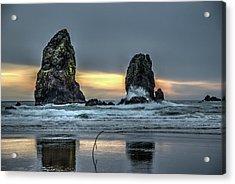 Sunset At The Canon Beach Acrylic Print