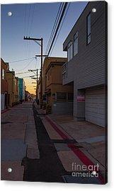 Sunset Back Alley Mission Beach San Diego California Acrylic Print