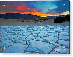 Sunset From Mesquite Flat Sand Dunes Acrylic Print