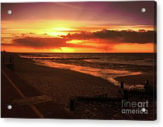 Sunset, Hunstanton Beach, Norfolk Acrylic Print