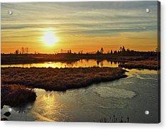 Sunset In Pitt Meadows Acrylic Print