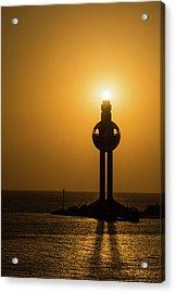 Sunset In Port Jeddah, Saudi Arabia Acrylic Print