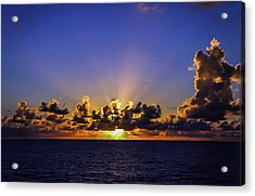 Acrylic Print featuring the photograph Sunset In The Bahamas by Dawn Richards