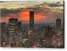 Sunset In The City, Hdr Acrylic Print by Tobntno