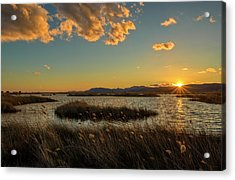 Sunset In The Natural Park Of Prat De Cabanes Acrylic Print