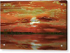 Acrylic Print featuring the photograph Sunset Lake by Bill Swartwout Fine Art Photography