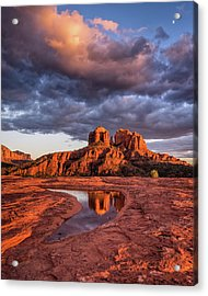 Sunset Light On Cathedral Rock Acrylic Print