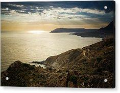 Sunset Near Tainaron Cape Acrylic Print
