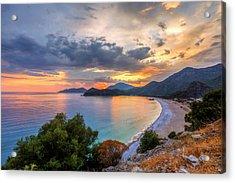 Sunset Of Oludeniz, Fethiye Acrylic Print by Nejdetduzen