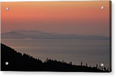 Sunset Of The Olympic Mountains Acrylic Print