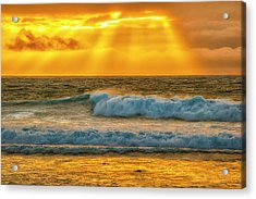 Sunset On A Rainy Day Acrylic Print by Fernando Margolles