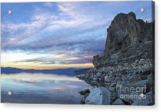 Sunset On Cave Rock Acrylic Print