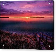 Sunset On Good Harbor Bay Acrylic Print
