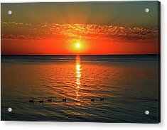 Acrylic Print featuring the photograph Sunset On Green Bay by Dawn Richards