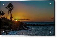 Sunset On Kapalua Acrylic Print