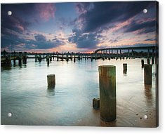 Acrylic Print featuring the photograph Sunset On The Severn River by Mark Duehmig