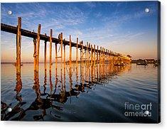 Sunset On U Bein Bridge, Amarapura Acrylic Print