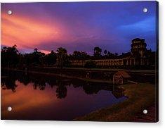 Sunset Over Angkor Wat Acrylic Print