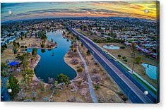 Sunset Over Chaparral  Acrylic Print
