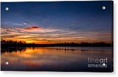 Sunset Over Laupheim Quarry Acrylic Print