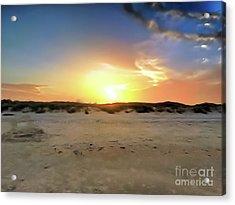 Sunset Over N Padre Island Beach Acrylic Print