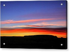 Sunset Over Navajo Lands Acrylic Print