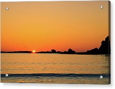 Acrylic Print featuring the photograph Sunset Over Sunset Bay, Oregon 4 by Dawn Richards