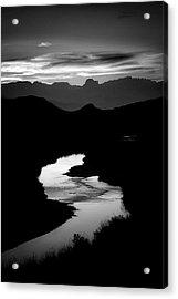 Sunset Over The Rio Grande Acrylic Print by Kim Kozlowski Photography, Llc
