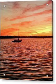 Sunset Sail Acrylic Print