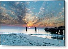 Sunset Seascape And Beautiful Clouds Acrylic Print