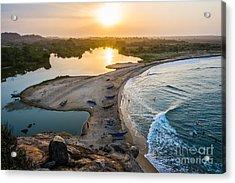 Sunset Seen From Elephant Rock Near Acrylic Print