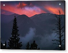 Sunset Storms Over The Rockies Acrylic Print