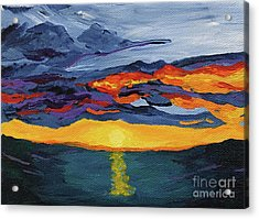 Sunset Streak Acrylic Print