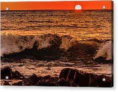 Sunset Wave Acrylic Print