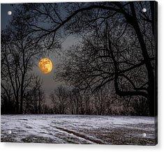 Super Blue Moon Rising 3 Acrylic Print
